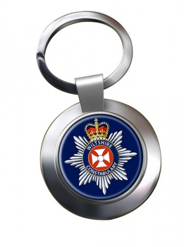 Wiltshire Constabulary Chrome Key Ring