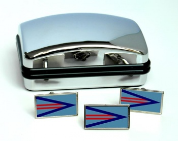 Wing Commander Rectangle (Royal Air Force) Cufflink and Tie Pin Set