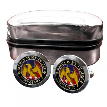 Wishart Scottish Clan Round Cufflinks