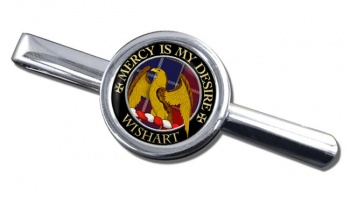 Wishart Scottish Clan Round Tie Clip