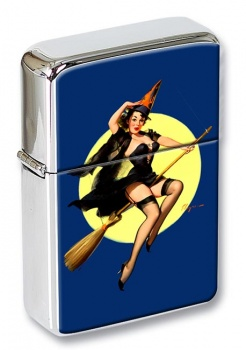 Witch's Delight Pin-up Girl  Flip Top LIghter