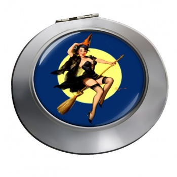 Witch's Delight Pin-up Girl Round Mirror