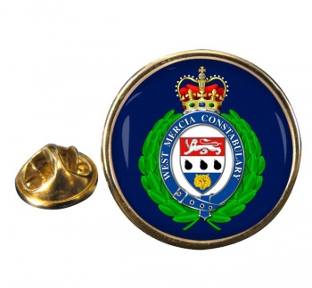 West Mercia Police Round Pin Badge
