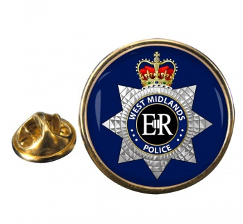 West Midlands Police Round Pin Badge