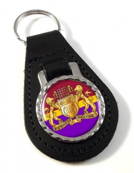 Westminster Dragoons (British Army) Leather Key Fob