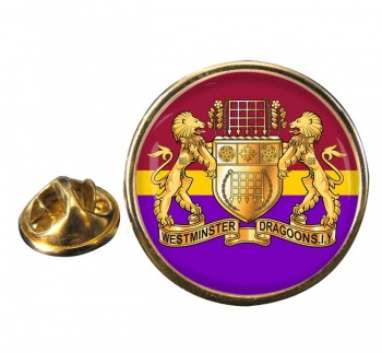 Westminster Dragoons (British Army) Round Pin Badge