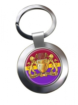 Westminster Dragoons (British Army) Chrome Key Ring