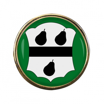Worcestershire Ancient Round Pin Badge