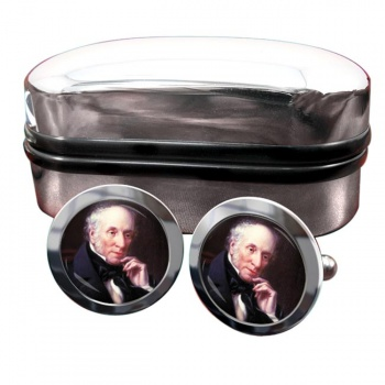 William Wordsworth Round Cufflinks