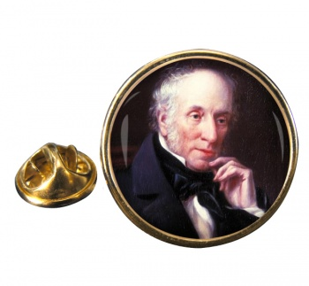 William Wordsworth Round Pin Badge