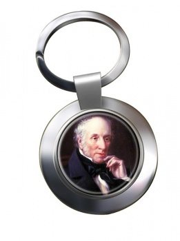William Wordsworth Chrome Key Ring