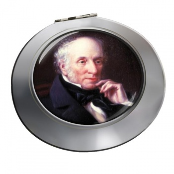 William Wordsworth Chrome Mirror