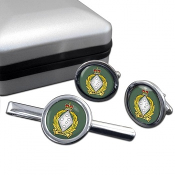 Women's Royal Australian Army Corps (WRAAC)  Round Cufflink and Tie Clip Set