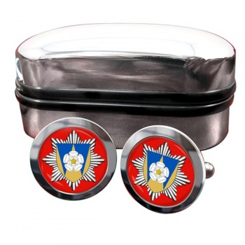 West Yorkshire Fire and Rescue Round Cufflinks