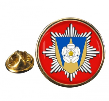 West Yorkshire Fire and Rescue Round Pin Badge