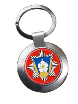 West Yorkshire Fire and Rescue Chrome Key Ring