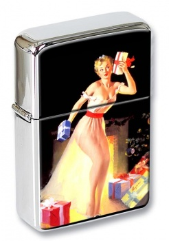 Christmas Eve Impatience Pin-up Girl Flip Top Lighter