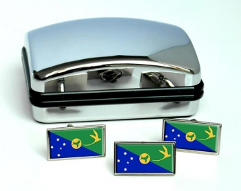 Christmas Island Flag Cufflink and Tie Pin Set
