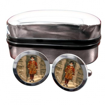 Victorian Yeoman of the Guard Round Cufflinks