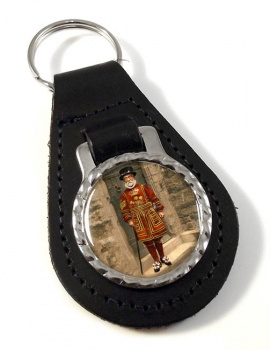 Victorian Yeoman of the Guard Leather Key Fob