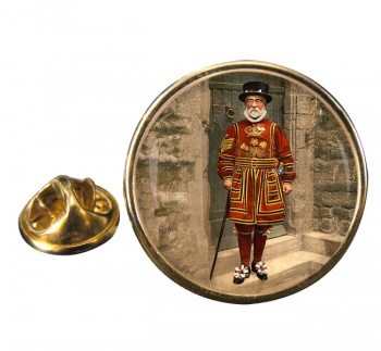Victorian Yeoman of the Guard Round Pin Badge