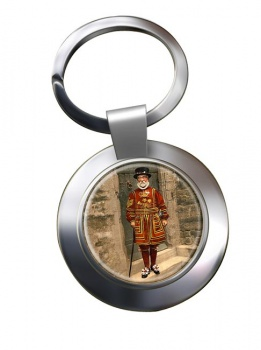 Victorian Yeoman of the Guard Chrome Key Ring