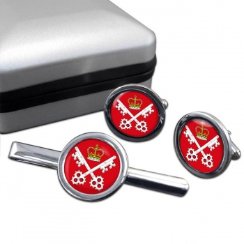 Diocese of York Round Cufflink and Tie Clip Set
