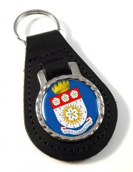Yorkshire (England) Leather Key Fob