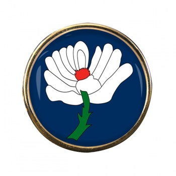Yorkshire County Round Pin Badge