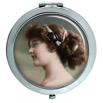 Young Edwardian Lady Compact Mirror