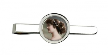 Young Edwardian Lady Tie Clip