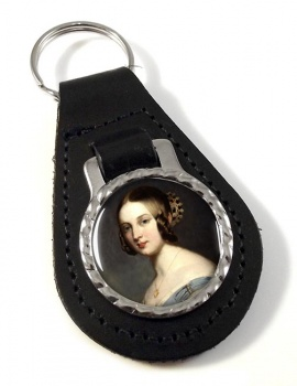 Young Queen Victoria Leather Key Fob