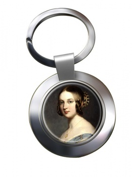 Young Queen Victoria Chrome Key Ring