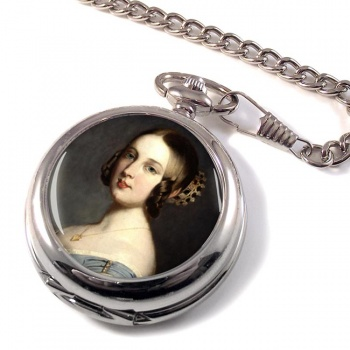 Young Queen Victoria Pocket Watch