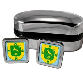Yucatan Mexico Square Cufflinks