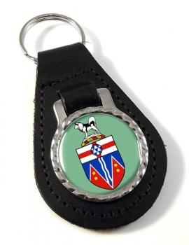 Yukon (Canada) Leather Key Fob
