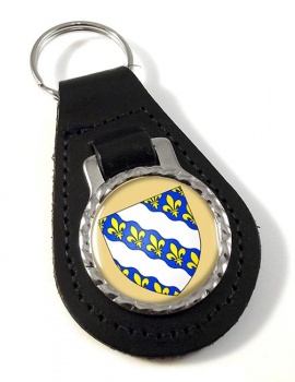 Yvelines (France) Leather Key Fob