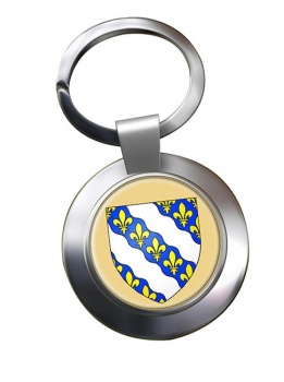 Yvelines (France) Metal Key Ring