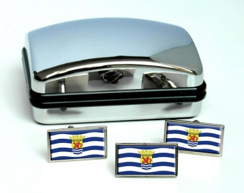 Zeeland (Netherlands) Flag Cufflink and Tie Pin Set
