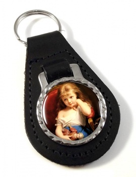 Young Girl by Zuber-Buhler  Leather Keyfob