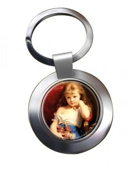Young Girl by Zuber Buhler  Chrome Key Ring