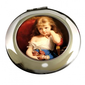 Young Girl by Zuber-Buhler  Round Mirror