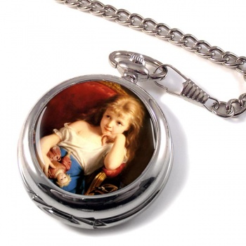 Young Girl by Zuber-Buhler  Pocket Watch