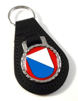 Zurich (Switzerland) Leather Key Fob